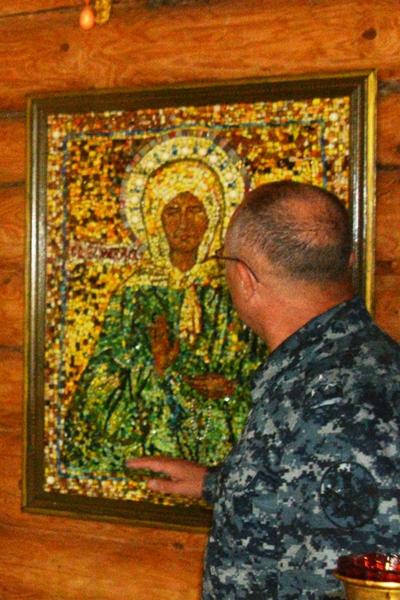 Мозаичная икона в МВК