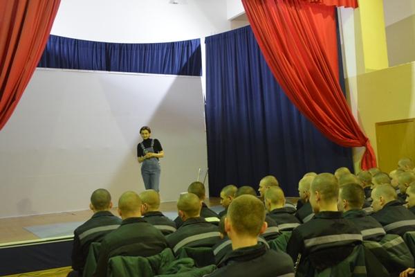 Для воспитанников Можайской ВК провели обучающее занятие «Актер как профессия»
